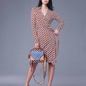 Diane Von Furstenburg Jeanne Wrap Dress NWOT 0